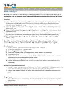 Designer Duties by Career Description Of An Interior Designer Billingsblessingbags Org