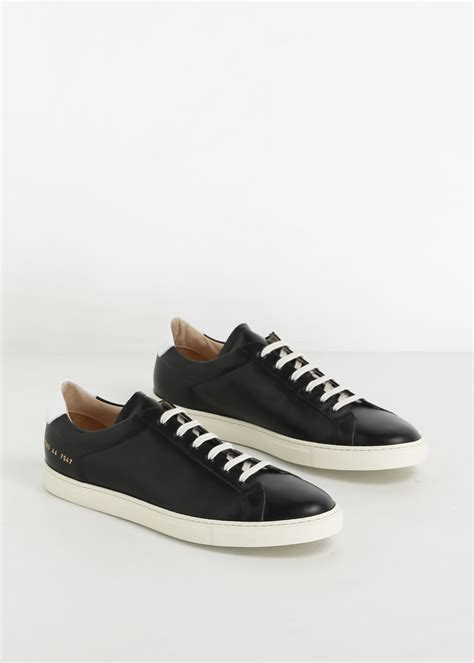 common project sneakers lyst common projects black white achilles retro low
