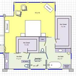 his her master bathroom floor plan love it for the