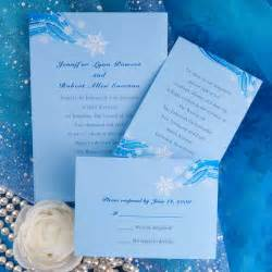 printable snowflake blue winter wedding invitation cards ewi085 as low as 0 94