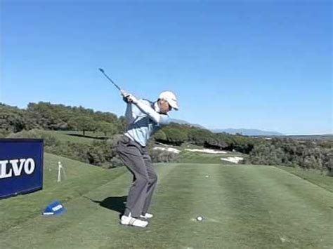 super slow motion golf swing driver swing vision sergio garcia 2009 1wd slow motion by carl