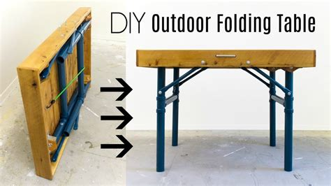 outdoor folding table   build youtube