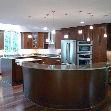 curved kitchen islands kitchen island design photos
