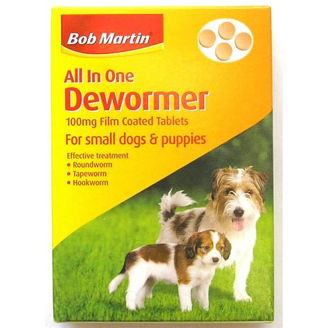 dewormer for dogs bob martin clear wormer tablets small dogs puppies 4 tablet feedem