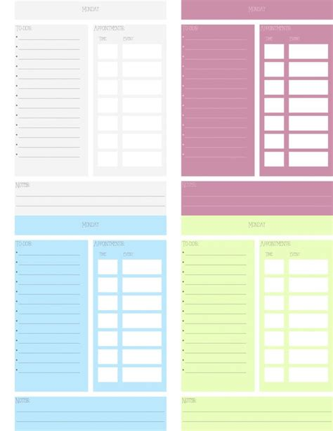 printable planner 5 5 x 8 5 customizable daily planner printable 5 5 x 8 5 by