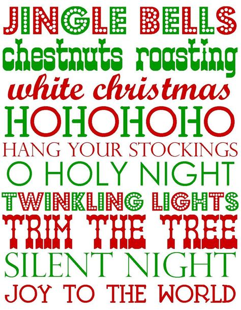 printable christmas words it s written on the wall 44 free christmas subway art for