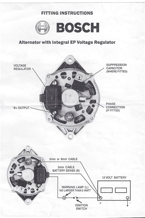 bosch regulator alternator wiring diagram