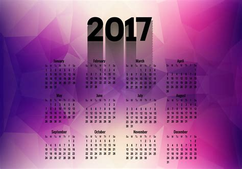 Calendario Happy New Deals Mediaworld Polygonal Calendar Of Year 2017 Free Vector
