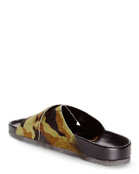 camouflage sandals sam edelman adora camouflage sandals in green lyst