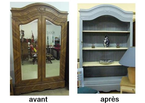 Relooking Armoire by Ancienne Armoire Relookee En Bibliotheque Bois Palette