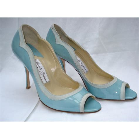 Light Blue Shoes Heels Mad Heel