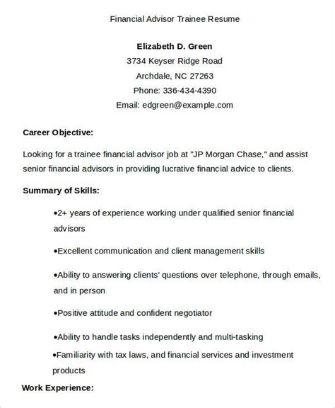 20 Finance Resume Templates Pdf Doc Free Premium Templates Financial Advisor Resume Template