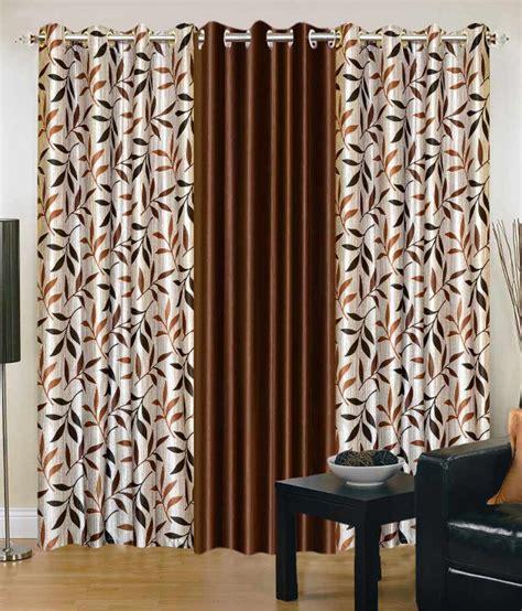 black and brown curtains iws designer 3 pcs door curtain set brown and black buy