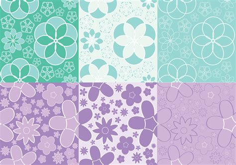 pattern flowers vector girly flowers pattern vectors download free vector art