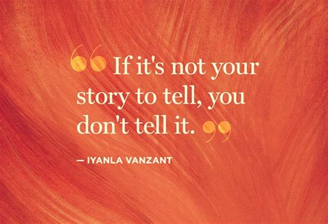 This Is Not Your Story if it s not your story to tell you don t tell
