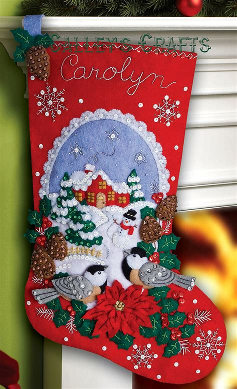 bucilla christmas chickadees 18 quot bucilla felt kit 86326 fth international sales ltd