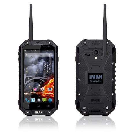 Rungee Android 60 Waterproof Smartphone Ip68 Walkie Talkie Ht black iman ip68 waterproof 2g 32g mtk6592 1 57ghz ptt