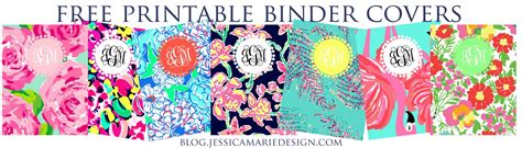 free preppy printable binder covers jessica marie design blog january 2013