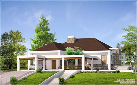 Single Story House Plans With Elevation Ranch Style Home Design