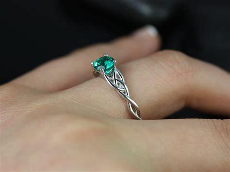 cassidy 6mm 14kt white gold emerald celtic by rosadosbox