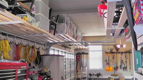 Diy Garage Storage Racks by Interior Diy Metal Overhead Garage Storage Rack Le And