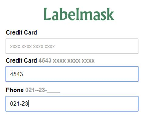 Credit Card Number Format Jquery Input Mask Jquery Plugins