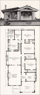 california house plans mediterranean style bungalow c 1918 home plans by e w stillwell los angeles california