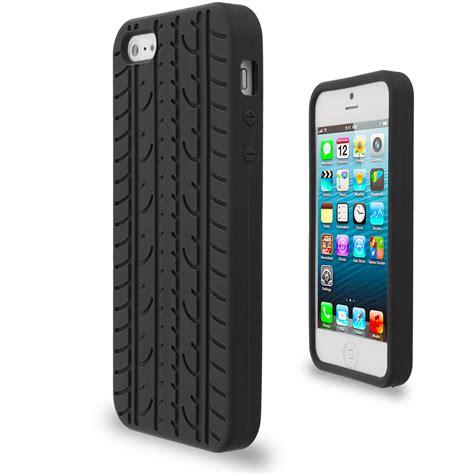 02 Iphone 44s Rubber Casecasingsoftuniklucucuteanjingbatik tire treads color silicone rubber skin cover for iphone se
