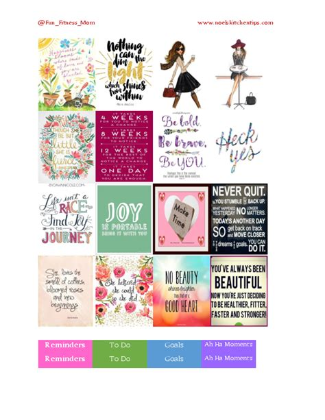 free printable workout planner stickers free printables fitness motivation theme planner stickers