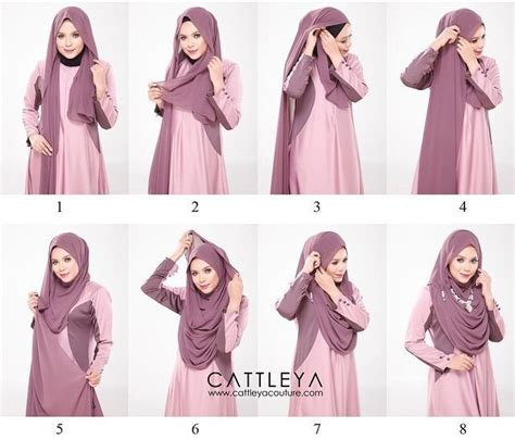 Catleya Syari chest coverage tutorial with necklace cara