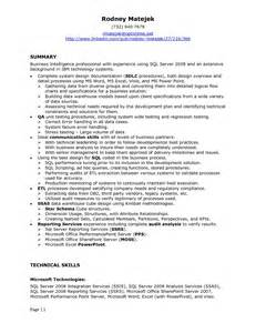 Ssis Sample Resume ssis developer resume sample best resume samples