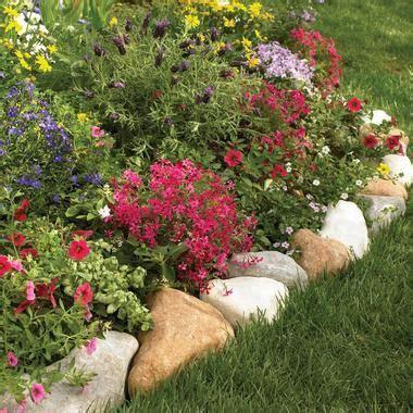flower bed edging flower bed edging round rocks yard pinterest