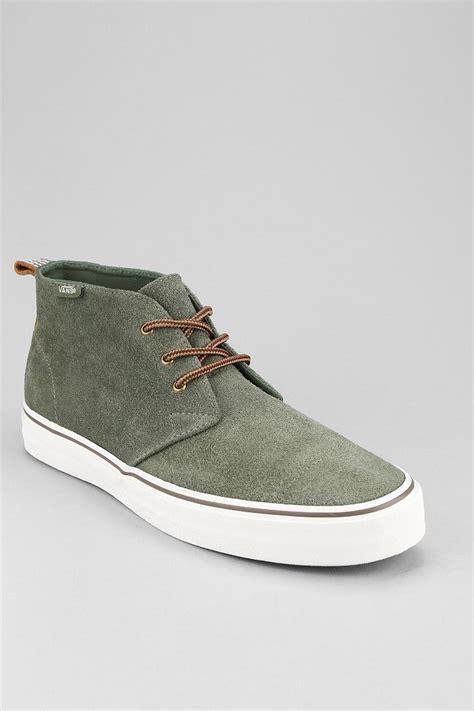 mens vans chukka boots vans decon california suede mens chukka boot in green for