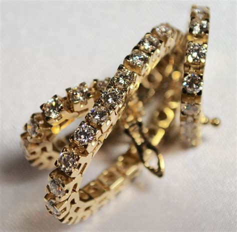 14k Yellow Gold 5 Carat Diamond Bracelet