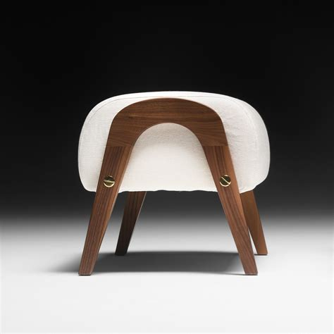 Contemporary Arm Chair Italian Designer Contemporary Walnut Arm Chair And Footstool