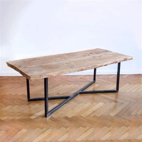 steel esszimmertisch oak steel table stoły schlafzimmerdesign