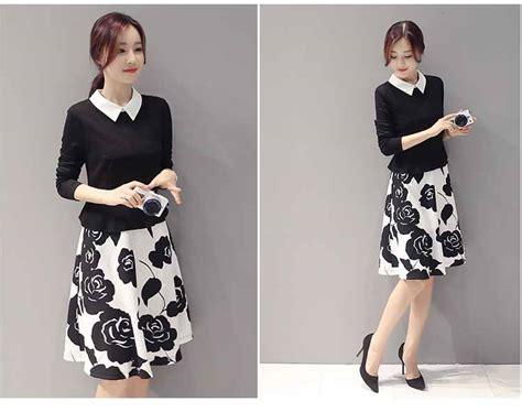 Dress Flower Dress Import G217135 dress flower korea cantik 2016 model terbaru jual