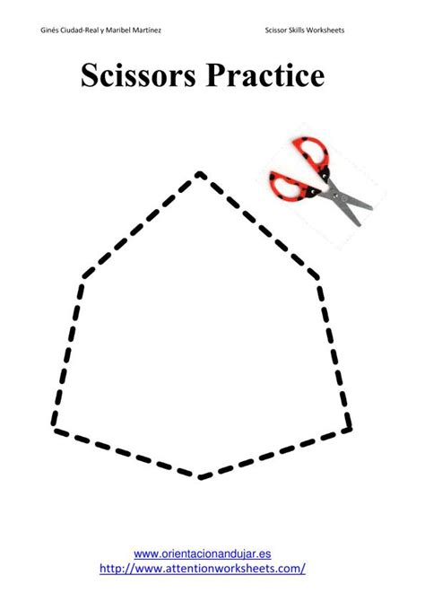 scissors practice attention worksheets