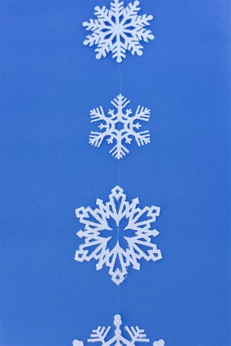 snowflake hanging decorations to turn your home into a