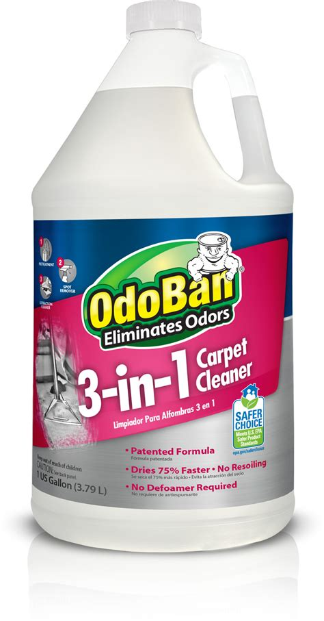 rug cleaner products odoban 174 3 in 1 carpet cleaner
