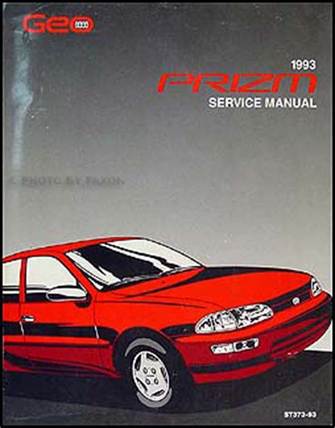 car maintenance manuals 1993 geo metro user handbook 1993 geo prizm repair shop manual original
