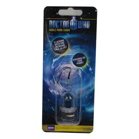 Dr Who Phone Charms Spin And Flash To Alert You Of Incoming Calls by Doctor Who Tardis Rotating Led Cell Phone Charm