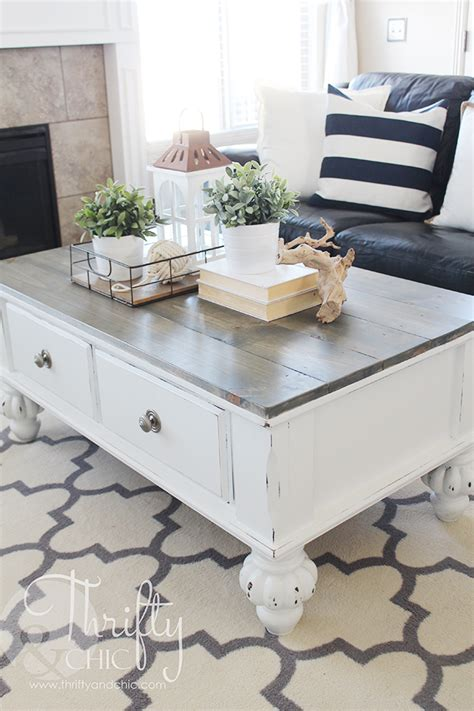 farmhouse coffee table and end tables thrifty and chic diy projects and home decor