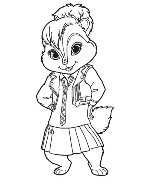 coloring pages of the name brittany brittany from alvin and the chipmunks 2 coloring pages