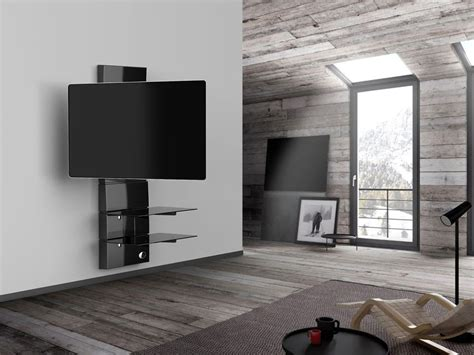 Support Mural Tv Orientable 7478 by Meliconi Ghost Design 3000 R Noir Supports Tv Cobra Fr