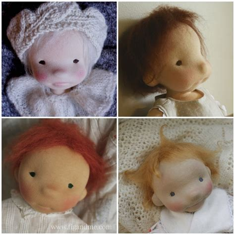 Doll Hair Style Doll by Dollmaking Tips How To Make Doll Hair Fig Me