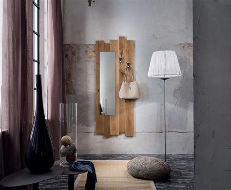 mensole per ingresso ingresso in legno massiccio di rovere collezione adige