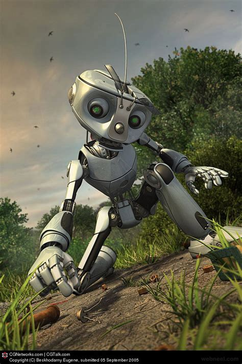 robot design 50 best 3d robot character designs and futuristic 3d models
