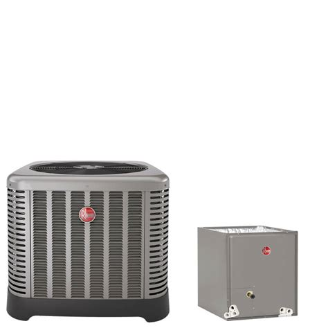 3 ton ac unit capacitor 3 ton rheem 14 seer r410a air conditioner condenser with 17 5 quot wide cased evaporator coil