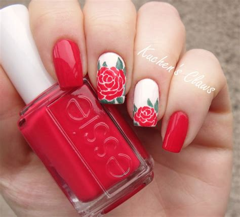 rose pattern nails 10 best ideas about rose nail art on pinterest rose nail